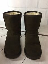 Emu Chocolate Brown Boots Size 8