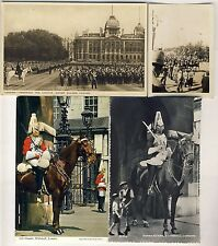 Royal Household Lifeguards Horseguards Cavalry Postcards Photo + Hanky WW2 -50s