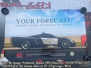 RARE SALEEN CHP POLICE S7 POSTER FRM 2007 NOS 427 FORD S281 S331 S302 PJ MUSTANG