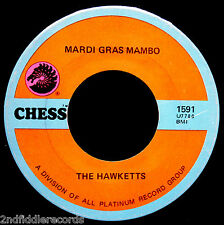 THE HAWKETTS-Mardi Gras Mambo-Rarer Vocal Group-Northern Soul R&B 45-CHESS #1591