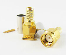 4pcs Rf Connector Sma Male Plug Straight Crimp for Rg58 Rg142 Rg223 Rg400 Lmr195