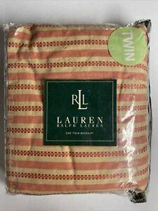 NEW Ralph Lauren TWIN Bed Skirt HAWK SPRINGS Red Stripe