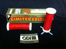Rare NOS Red / White RON WILKERSON ODI MUSHROOM GRIPS Old School BMX #C0920