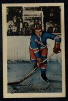 1952-53 Parkhurst #19 Ed Slowinski EX/EX+ NY Rangers A4852