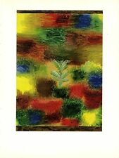 "1967 Vintage PAUL KLEE ""LITTLE TREE AMID SHRUBBERY"" WOW! COLOR offset Lithograph"