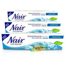 3x Nair SENSITIVE Hair Removal Cream With Camellia Oil Legs Bikini 80ml
