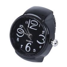Anillo Reloj Metal Redondo Ajustable Negro Nuevo 22mm AC