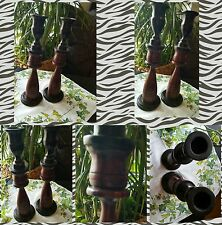 🕯Kerzenständer Holz Kerzenhalter🕯 Kerzenleuchter Dekoration Afrika