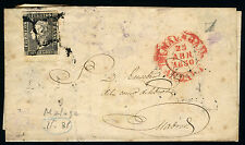 ESPAÑA CARTA 1 MALAGA A MADRID II-31