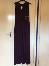 BNWT ALEXON PURPLE SLEEVELESS EVENING GOWN DRESS SIZE 10 BNWT £125 FREE P&P