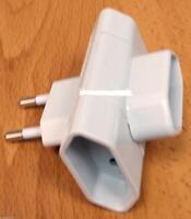 Adaptador Triple Horizontal 10A, Base Multiple Ladron 3 toma fina de enchufe
