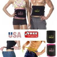 Men Women Waist Trimmer Belt Sweat Weight Loss Stomach Wrap Gym Tummy Fat Burner