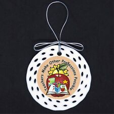 Teachers Make Other Professions Possible Porcelain Ornament Gift Teaching Apple