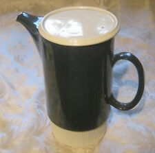Poole pottery tableware Parkstone pattern Coffee Pot black and white retro style