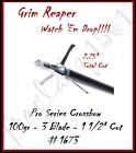 "GRIM REAPER Pro Series Crossbow 100gr, 3-Blade ,1 1/2"" Cut Broadheads - 4Pk 1673"