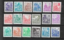 GERMANY - DDR Sc 187-204 NH COMPLETE SET OF 1953