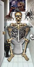 Halloween Skeleton Bathroom Door Cover Fancy Dress Horror Party Decoration