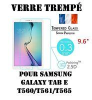 "Vitre Protection Film écran VERRE TREMPE 9H Samsung Galaxy Tab E T560/T565  9.6"""
