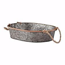 """Jack Daniel Galvanized Tin Serving Tub 10.5"""" W x 13.5"""" L Department 56"""