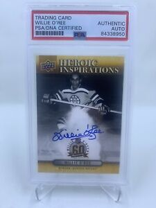 Willie O'Ree Signed 2018 Upper Deck Heroic Inspirations Auto PSA/DNA Bruins