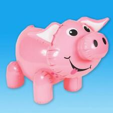 "24"" GIANT INFLATABLE PIG FARM ANIMAL INFLATE BLOW UP THEMED NOVELTY PARTY TOY"