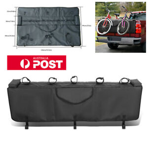 """53"""" Pickup Bed Tailgate Crash Pad Protector Cover w/Bike Racks With Tool Pocket"""