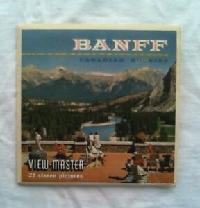 Banff  Canadian Rockies  View Master  S5  Packet  1950s
