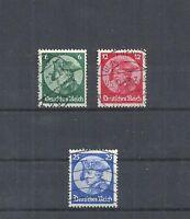 Deutsches Reich,1933 Michelnummer: 479 - 481 o, gestempelt o, Michelwert € 30,00