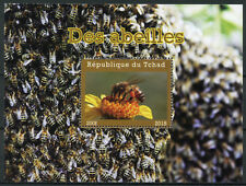 Chad 2018 MNH Bees 1v M/S Abeilles Insects Bee Stamps