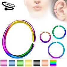 2pc Hoop Nose Septum LIP Helix Rook Daith Tragus Conch Snug Cartilage EAR RINGS