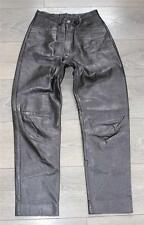 "VINTAGE Marrone Pelle Da Motociclista Moto Pantaloni Pantaloni Jeans Taglia W25"" L26"""