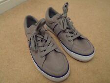 Nuevo Polo Ralph Lauren Zapatos Náuticos Gris Cubierta De Lona Bolingbrook UK 7 EU 41 nos 8