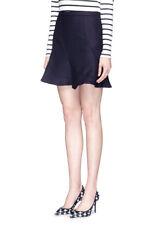 New J Crew Flutter Mini Skirt Size 6 or 4 New Navy Blue NWOT Flare Short Small