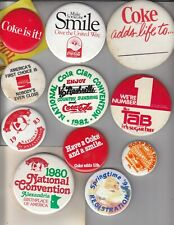 COCA-COLA PIN BACK BUTTONS 20 PIECES  COKE< DIET COKE. C C COLLECTOR club TAB#1