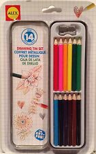 ALEX Toys Artist Studio 14 Piece Colored Pencil Drawing Tin Set