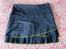 Lucky in Love Brand - Size XL/16 Tennis/ Golf Skirt Shorts. Navy/Lime