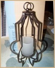 Partylite Marrakech Hanging Antique Bronze Lantern w/ Votive Tealight Cup Nib