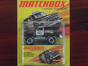 Matchbox Lesney 89 Chevy Blazer Police Sheriff Blazer 4wd Chevrolet Car