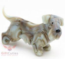 Art Blown Glass Figurine of the Cesky Terrier dog