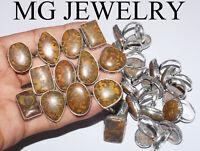 jasper Pedants Jewelry Natural Red Tiger Eye Gemstone Bezel Pendants Lot Mix Shapes /& Size Wholesale lot 925 Silver Plated Pendants