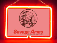 Savage Arms Repair Hub Bar Display Advertising Neon Sign