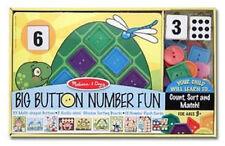 Melissa & Doug Big Button Number Fun #4319- New Sealed
