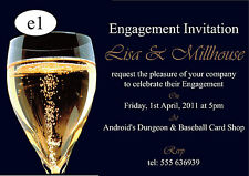 Engagement Invitations Cards - 50 invites with envelopes