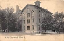 B66/ Galion Ohio Postcard 1916 High School Building