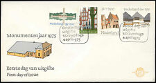 Netherlands 1975, Preserved Buildings FDC First Day Cover #C27545