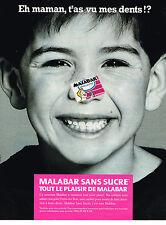 PUBLICITE ADVERTISING 025  1990  MALABAR 2   chewing-gum sans sucre