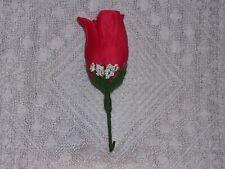 Wedding Red Boutonniere Men Groom Groomsmen Usher Quinceanera  Ringbearer Rose