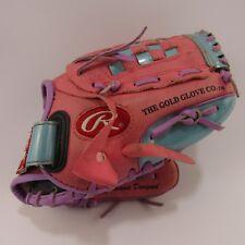 """Rawlings 10"""" Baseball Softball Glove Ball Mitt Pink Pl100P Basket Web"""