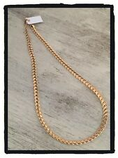 Collier Maille Tressée Palmier 45 cm Plaqué Or 18 carats Garanti Bijoux Femme