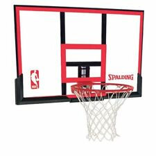 "Spalding 48"" Polycarbonite Basketball Backboard and Rim C W"